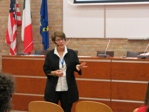 Joyce Neu speaking at IPSI Bologna 2014 Symposium